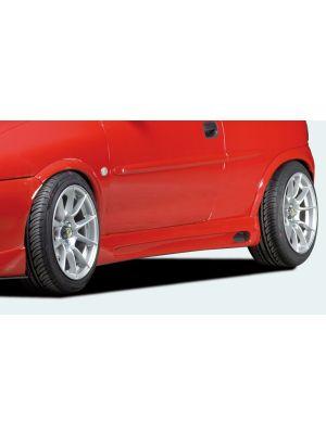 Side skirt | Opel Corsa B 5-deurs 1993-2000 | stuk ongespoten abs | Rieger Tuning