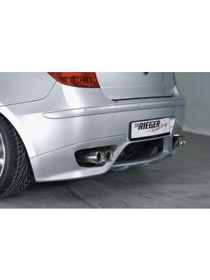 Rieger einddemper, li./re., Type 11, BMW 1 E87 | 1er E87 (187 / 1K2/1K4) - 4-drs.- Diesel | stuk rvs | Rieger Tuning