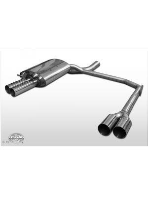 Fox einddemper li/re 2x76mm Typ 10 BMW E60/E61 520d 110/ | 5-Serie E60 - Lim.  5-Serie E61 - Touring | stuk rvs | Rieger Tuning