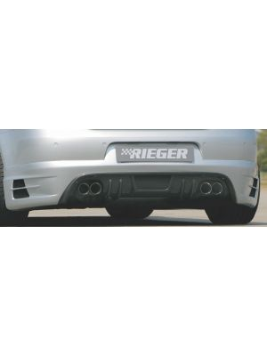 Rieger einddemper links/recht (Type 24) voor Rieger achteraanzetstuk | Eos (1F): 04.06.-11.10 (tot Facelift), 12.10- (vanaf Facelift) | stuk rvs | Rieger Tuning