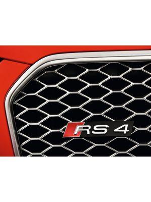Audi RS4-Logo (B8) | A4 (B8/B81): 01.12- (vanaf Facelift) - Lim., Avant  A4 S4 (B8/B81): 01.12- (vanaf Facelift) - Lim., Avant  RS4 (B8): 09.12- (vanaf Facelift) - Lim., Avant | stuk abs | Rieger Tuning