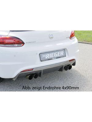 Einddemper   Volkswagen Scirocco 2008-2013   stuk rvs   Rieger Tuning