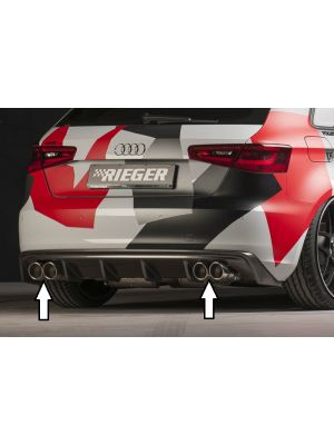 Bull-X einddemper AUDI A3 (8V) 1.4 TFSI, 1.8 TFSI alleen 2WD | A3 (8V): 07.12- - 3-drs. (Schrägheck 8V1), 5-drs. (Sportback 8VA) | stuk rvs | Rieger Tuning