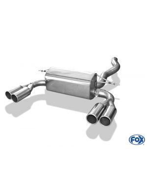 Rieger einddemper BMW 4-Serie F32/F33F36, alleen 435i 225/250kW | 4-Serie F32 (3C): 11.12-06.15 (tot Facelift) - Coupé (3-drs.)  4-Serie F33 (3C): 03.13-06.15 (tot Facelift) - Cabrio  4-Serie F36 (3C): 05.14-06.15 (tot Facelift) - Gran Coupé (5-drs.)