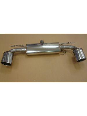 Friedrich Duplex-Sport-einddemper, li./re., 152x95mm ovaal | met uitlaatvariant: -91 / -92 (li./re.)  uitlaat: 152x95mm ovaal  opgerold, afgeschuind  Roestvrijstaal, (met EG-Typegoedkeuring)  Voor auto's met S-Line exterieur (met Rieger Diffuser).