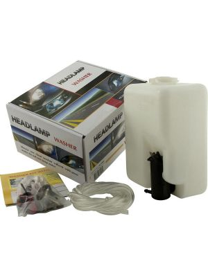 Koplampsproeier systeem | met pomp, tankje en sproeierkoppen | Achteraf koplampsproeiers monteren