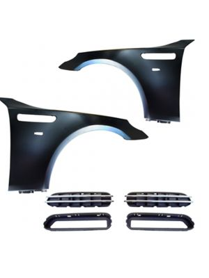 Spatborden links en / of rechts | M5 - Look | BMW 5 serie sedan E60 , touring E61 2003-2010 | met luchthappers / Air Vents