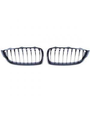 Grillen set | Nieren | BMW 4-Serie F32 F33 F36 2013-2020 | M-Performance | zwart glanzend