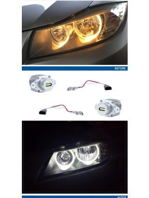 LED Angel Eyes upgrade kit voor BMW 3-serie E90/E91 LCI met halogeen koplampen 40W | Valeo compatible