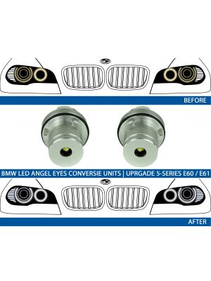 LED Angel Eyes upgrade kit 7000K BMW E39 E53 E60 E61 E63 E64 E65 E66 E87 (25W)