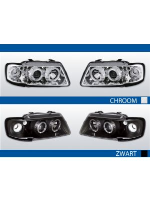 A3 8L Angel Eyes chroom zwart LED CCFl