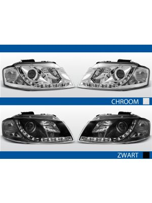 Devil Eyes LED DRL koplampen Audi A3 8P