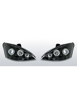 Koplampen Angel Eyes | Ford Focus 3/4/5D 2001-2003 | LED zwart