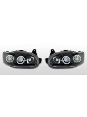 Koplampen Angel Eyes | Ford Escort 1995-2000 | LED | zwart