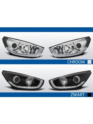 Koplampen Angel Eyes / Tube Light | Hyundai IX35 2009-2013