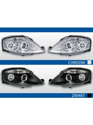 angel eye koplampen citroen c3 2002-2009 chroom en zwart