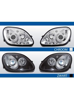 koplampen angel eyes mercedes slk r170 1996-2004 chroom en zwart