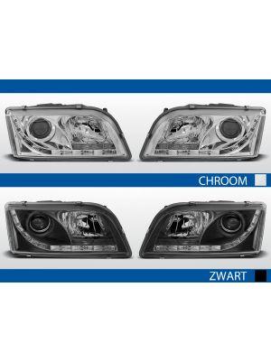 led drl koplampen volvo s40/v40 in chroom en zwart