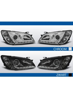 led drl koplampen lexus is200/is300 2001 2005 chroom of zwart
