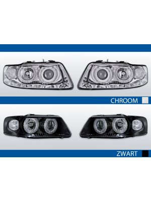 angel eyes koplampen audi a3 8l chroom zwart