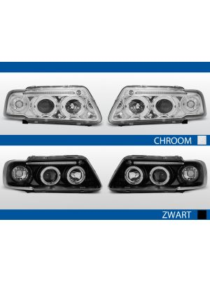 angel eyes led koplampen audi a3 8l 1996-2000 chroom zwart