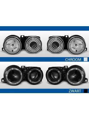 bme 3-serie e30 koplampen met angel eyes in chroom of zwart