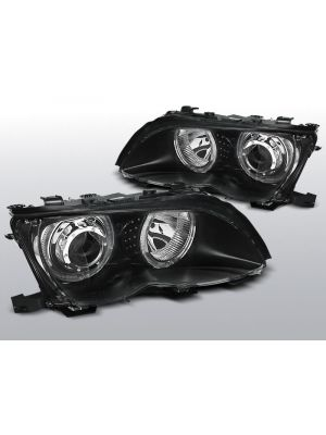 angel eyes koplampen bmw 3-serie e46 zwart