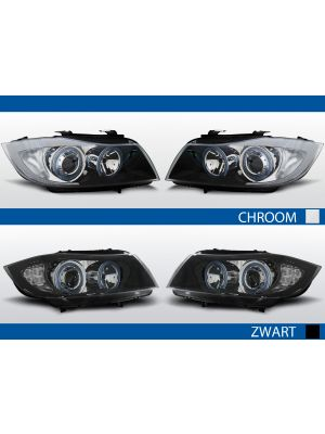 Koplampen Angel Eyes | BMW 3-Series E90 2005-2008 | zwart
