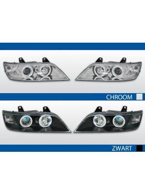 angel eye koplampen bmw z3 coupe cabrio. leverbaar in chroom en zwart