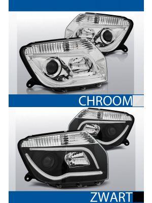 tube light koplampen dacia duster chroom zwart