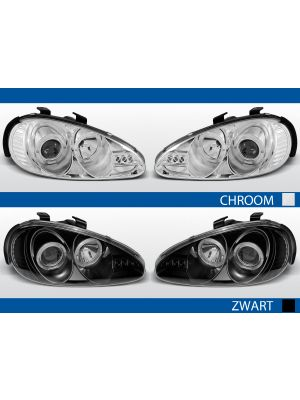angel eye koplampen mazda mx3 chroom zwart