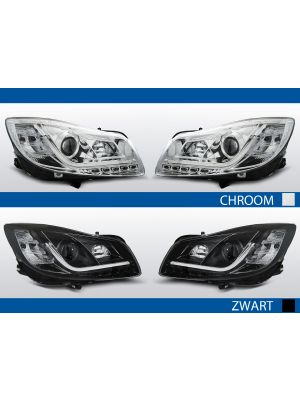 led drl koplampen voor opel insignia in chroom of zwart