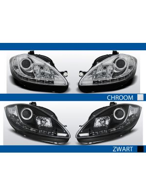 led drl koplampen voor seat leon/altea in chroom of zwart