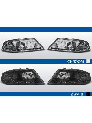 led drl koplampen met xenon voor skoda octavia II in zwart of chroom