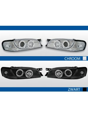 angel eye koplampen voor subaru impreza in chroom of zwart