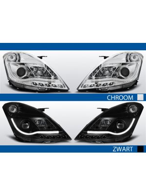 tube light koplampen voor suzuki swift iv in chroom of zwart