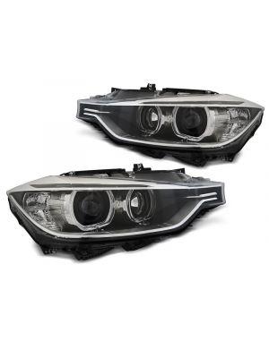 F30 F31 Angel Eyes LED projector koplampen in Xenon look. Felle witte LED Angel Eyes.