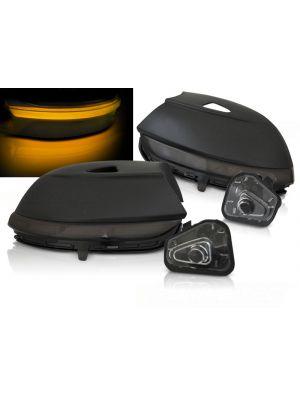 Zijspiegel-knipperlicht   Volkswagen   Beetle 11-16 / Beetle Cabrio 11-16 / Jetta 11-14 / Passat 10-14 / Passat CC 08-12 / Passat Variant 10-14 / Scirocco 08-13   LED   Dynamic Turn Signal smoke