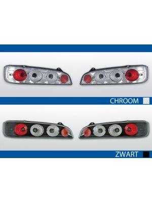 Achterlichten Fiat Seicento 600 chroom of zwart