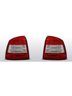 achterlichten opel astra g rood/wit