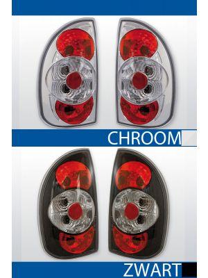 achterlichten opel corsa b chroom of zwart