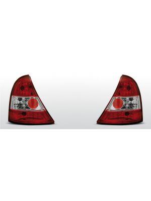 achterlichten renault clio 2 rood/wit