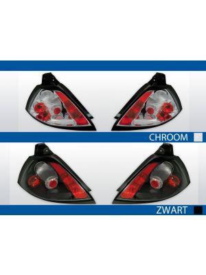 achterlichten renault megane 2 chroom of zwart