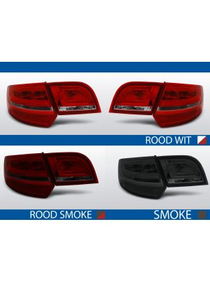 achterlichten audi a3 8p rood/wit, rood/smoke of smoke