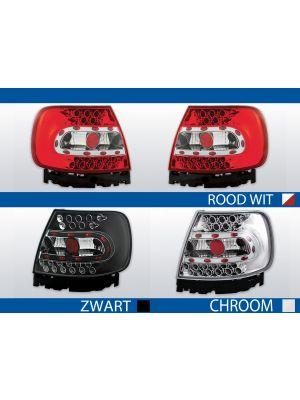 achterlichten audi a4 b5 chroom, zwart of rood/wit