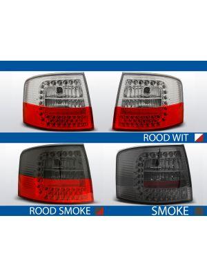 achterlichten audi a6 c5 rood/wit, rood/smoke of smoke