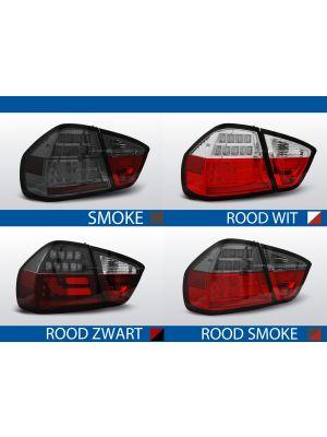 achterlichten bmw 3 serie e90 rood/wit, rood/zwart, rood/smoke of smoke