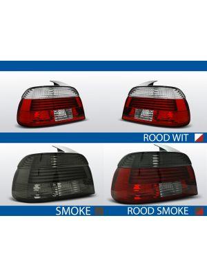 achterlichten bmw 5 serie e39 rood/wit, rood/smoke of smoke