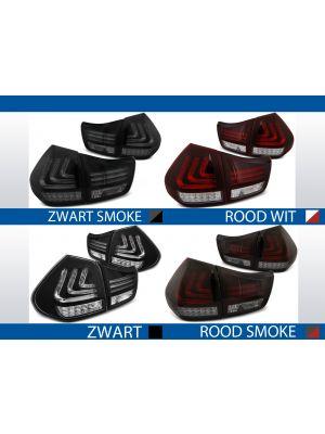 achterlichten lexus rx 330/350 rood/wit, rood/smoke, zwart/smoke of zwart