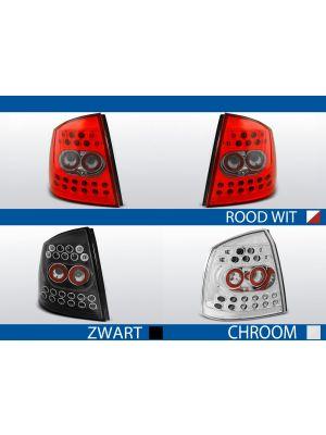 achterlichten opel astra g rood/wit, chroom of zwart